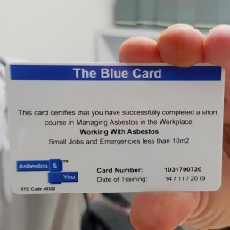 Asbestos Training Workshop - Qualification Blue Card